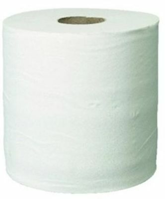 WHITE ROLL 2Ply centrefeed rolls, paper hand towels, absorbant, embossed