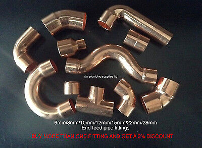 6Mm/8Mm/12Mm/10Mm/15Mm/22Mm/ Copper End Feed Fittings/plumbing Fittings