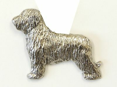 Briard Brooch, Silver Plated