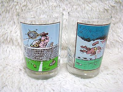 Lot of 2 Vintage 1982 Arby's Collector Series Gary Patterson Drinking Glasses
