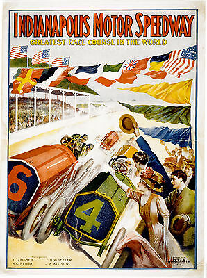 """Indianapolis Speedway poster 1909      11.7"""" x 16.5"""""""