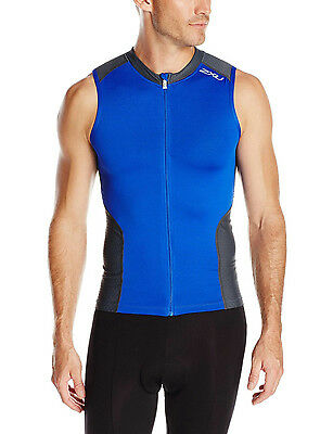 2XU Men's Multi-Sport Singlet Blue Men's Medium