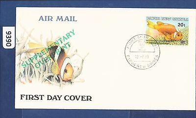 1989 Papua New Guinea FDC Supplementary overprint Port Moresby  (9390)