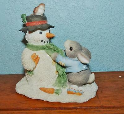 "1996 Enesco My Blushing Bunnies Figurine ""friendship Puts A Smile On Your Face"""