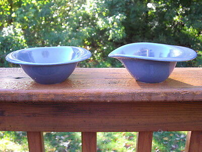 Russel Wright Highlight Paden City Blueberry Sugar & Creamer Set