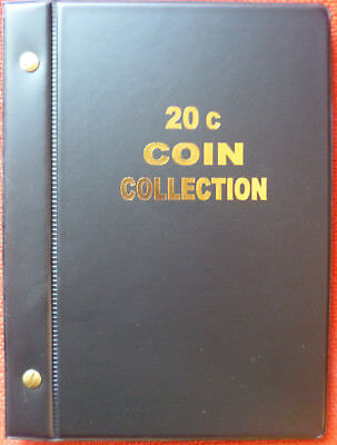 VST AUSTRALIAN COIN ALBUM for 20c COLLECTION 1966 to 2018 with MINTAGES PRINTED