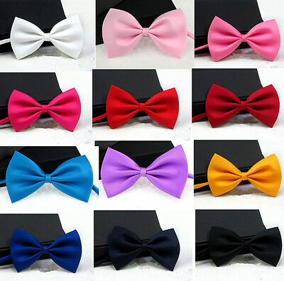 Women Kid Men Baby Classic Tuxedo Bowtie Adjustable Wedding Prom Evening Bow Tie