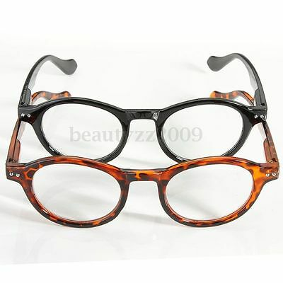 Retro Round Frame Black Tortoiseshell Design Reading Glasses 1/1.5/2/2.5/3