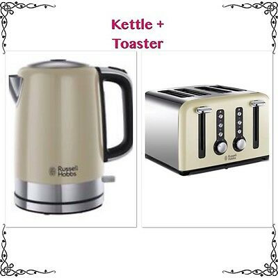 RUSSELL HOBBS Windsor Cream Kettle & Toaster - New