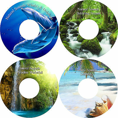 Natural Sounds Relaxation Deep Sleep Stress Anxiety Relief 4 CD Healing Nature