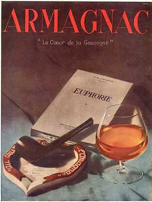 1948- ARMAGNAC Brandy -French Ad, Gascogne