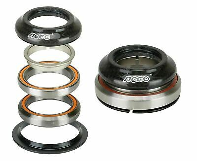 """NECO Bike Carbon CNC Integrate Taper Headset 1-1/8"""" 1-1/2""""with Top 7.8mm Bearing"""
