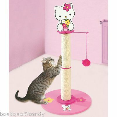 Arbre A Chat Hello Kitty - Zolux Poteau Agriffer Rose 65X35Cm Ref 504011