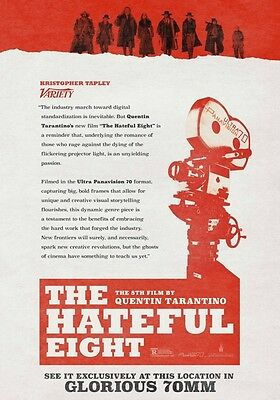 THE HATEFUL EIGHT Panavision PHOTO Print POSTER The H8ful 8 Quentin Tarantino 06