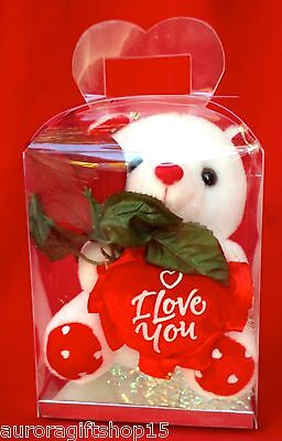 """WHITE TEDDY BEAR 7""""