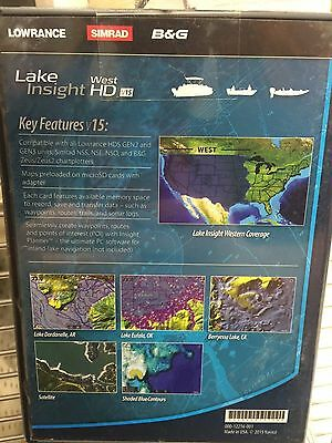 Lowrance Lake Insight Hd West V15 High Definition Lake Maps, 000-12216-001, 9420