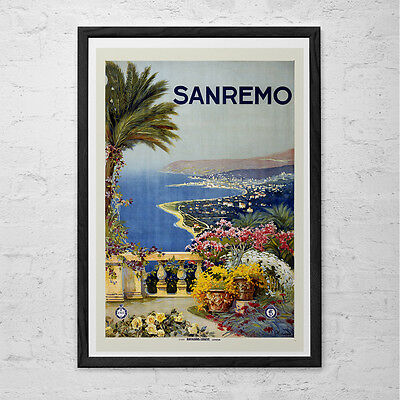 Ospedaletti San Remo A4 Photo Print Art