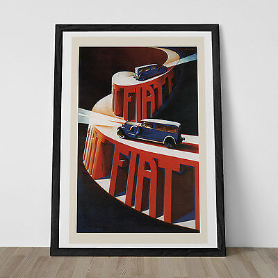 Vintage ART DECO Print Reproduction - Classic AUTOMOBILE Poster - Ikea Ribba Siz