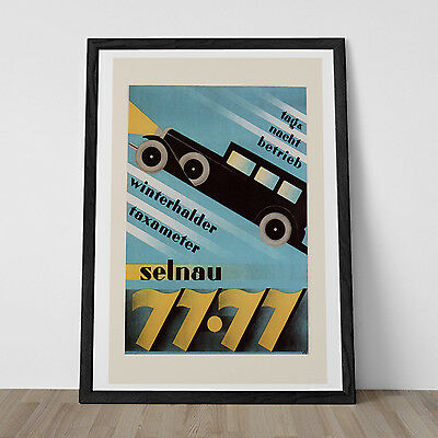 Vintage ART DECO Print Reproduction - Classic AUTOMOBILE Poster - High Quality I