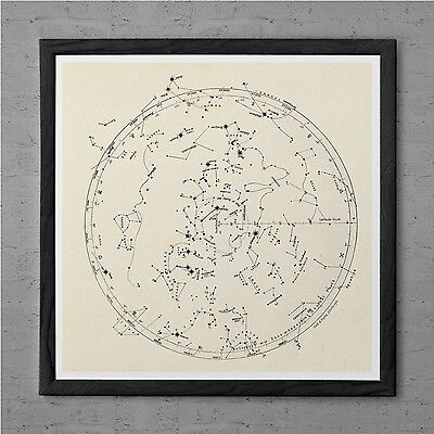 ANTIQUE ASTROLOGY MAP Antique Wall Art - Antique Zodiac Map ... on