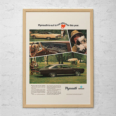 VINTAGE GREYHOUND BUS Ad Mid-Century Poster Garage Mechanic Retro Travel Ad