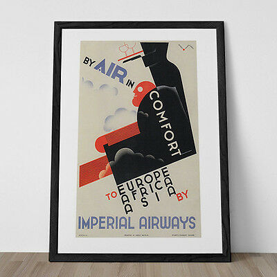 MACHINE AGE POSTER - Early Airline Poster - Industrial Age Art Print - Steampunk