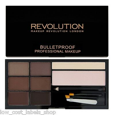 Makeup Revolution Ultra Brow Palette  Medium - Dark Eyebrow Enhancing Kit