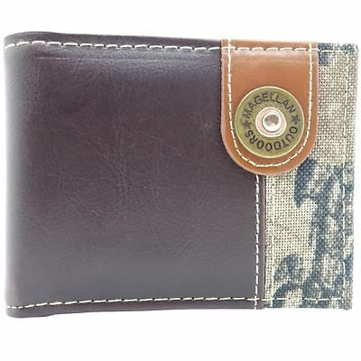 New Official Magellan Varied Pattern Pu Leather Camouflage Bi-Fold Wallet