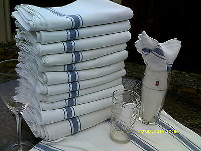 10 x Glass cloth tea towel 100% cotton cloths restaurant bar cafe