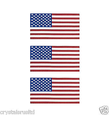10 x USA Flag iron on fabric patch embriodery united states of america flag