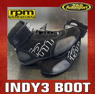 RPM INDY 3 BOOT SHOES Boot Black FIA APPROVED 8856-2000