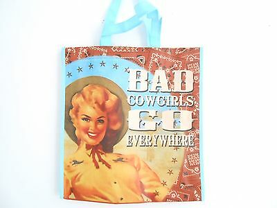 Wholesale Lot of 30 COUNTRY AND NOVELTY Bad Cowgirl Tote Bags NEW WITH TAGS