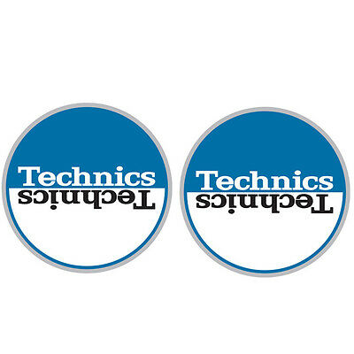 Technics 60662 DJ Vinyl Turntable Slipmat Moon Blue / White Pair