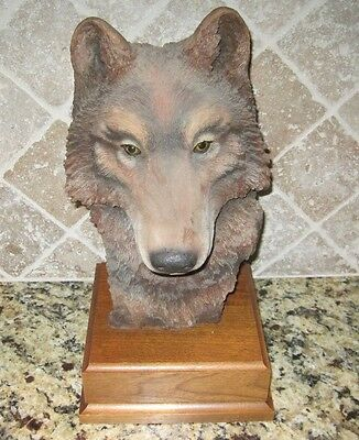 "Paul R. Carrico ""Vanishing"" Signed LE 814/3000 Wolf Sculpture"