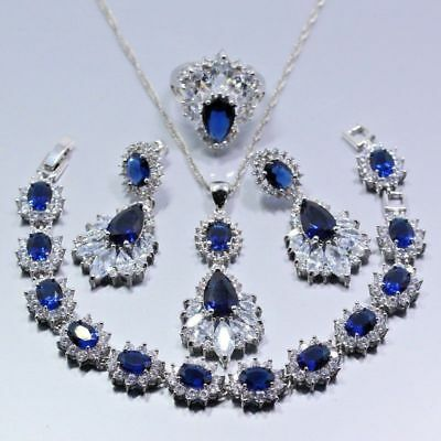 75% OFF Topaz Blue  925 Sterling Silver Jewelry Sets
