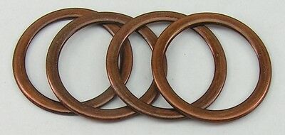 8 Pieces D-Rings Ring Ring old copper 38mm rust-free 02.27ak