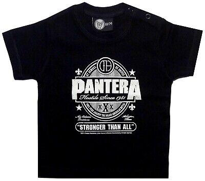 Pantera Stronger Than All Baby Boys Girls Tshirt Kids Black T-shirt Infant Top