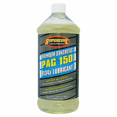 Supercool PAG 150 Synthetic Air Conditioning Lubricant R-134a R134a - 946ml 32oz