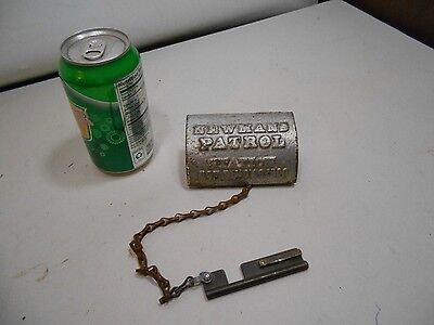 ANTIQUE - NEWMANS PATROL STATION BOX WITH ORIGINAL KEY patd nov 6 1900