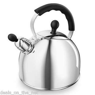 Morphy Richards Stainless Steel Stove All Hob Type Top Whistling Kettle Silver