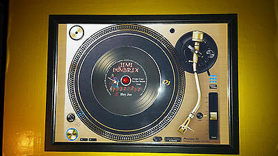 JIMI HENDRIX Vinyl Promo copy playing on a turntable CD Memorabilia Frame,New