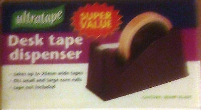 DESK TAPE DISPENSER~~Takes small and large core rolls up to 25mm wide tape