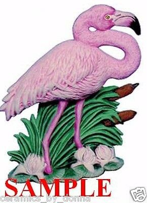 Flamingo Bird CERAMIC READY to PAINT 6 inch Tall Statue figurine collectable