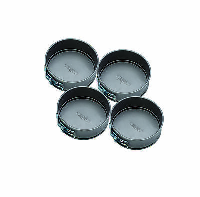 RACO Bakeware Mini Springform Round Pans (Pack of 4) Rolled Steel NEW