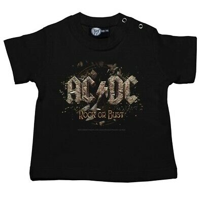 AC/DC Rock Or Bust Baby Shirt Official Boys Girls Tshirt Metal Kids T-shirt New