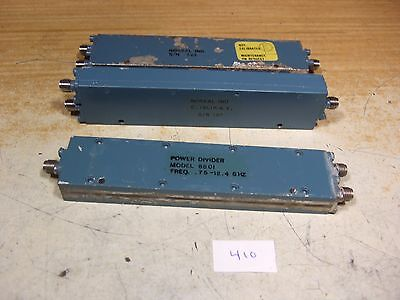 Norsal 8801 50 Ohm Power Divider .75-12.4 GHz 2 way SMA