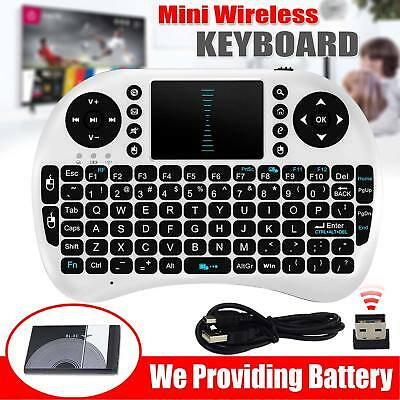New 2.4G Wireless Fly Air Keyboard Qwerty Touchpad For PC Laptop Android TV Box