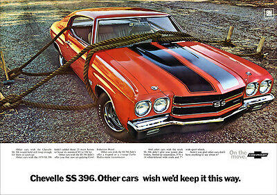 Chevrolet Chevelle Ss 396 Retro A3 Poster Print From Classic Advert 1970