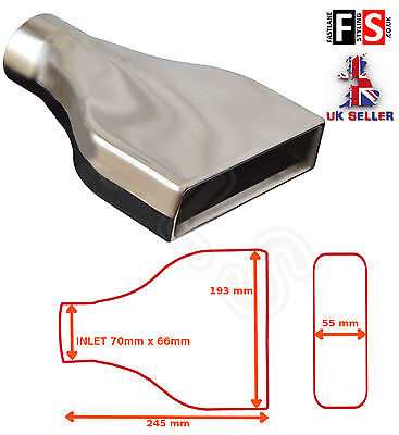 """UNIVERSAL STAINLESS STEEL EXHAUST TAILPIPE 2.75"""" INLET YFX-0002-Dodge"""