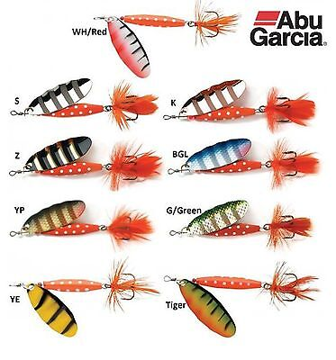 Abu Garcia Reflex Red All-Purpose Spinner Fishing Lure 7g 12g & 18g – 11 Colours